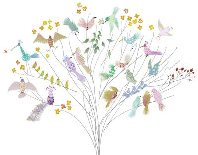 鳥の樹イラスト